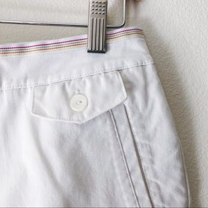 Women's EP Pro golf shorts white flat front 8